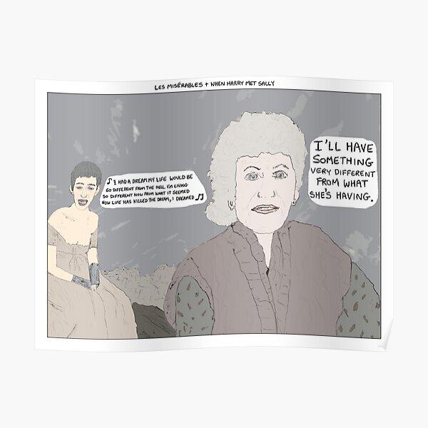 Les Misérables + When Harry Met Sally Poster