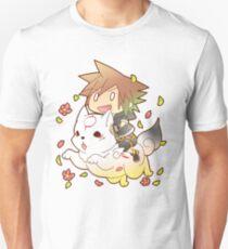 Chibi Sora & Okami of KH Slim Fit T-Shirt