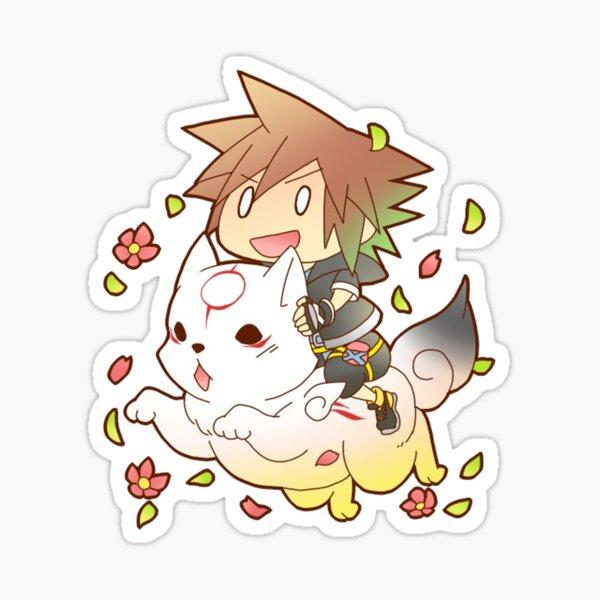 Chibi Sora & Okami of KH Sticker