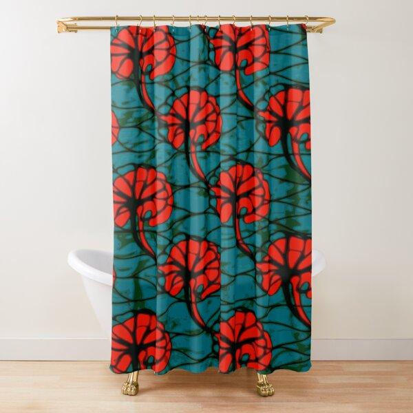 African wax print Shower Curtain