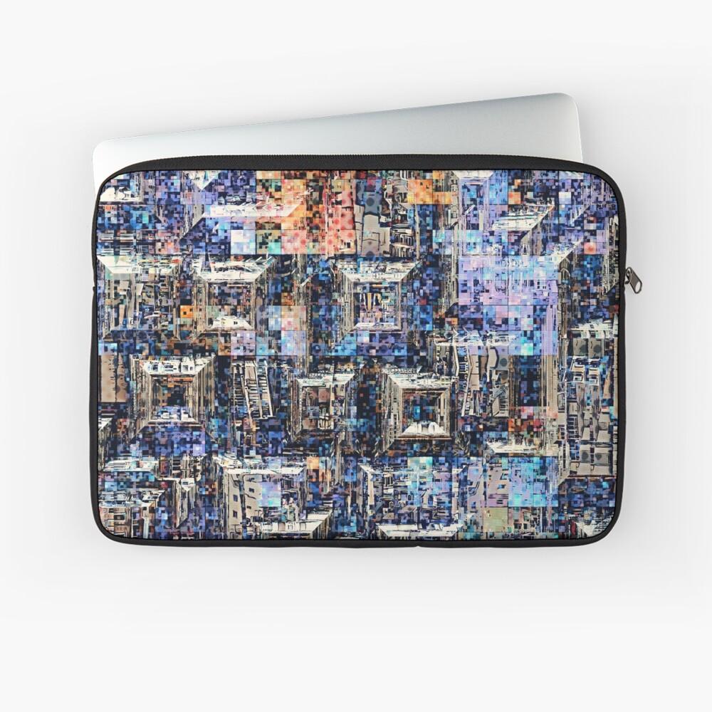 Geometric Graphic Collage Laptop Sleeve