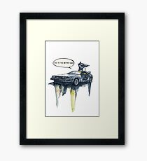 DMC - back to the future Framed Print