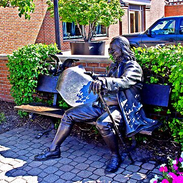 Ben Franklin and his paper by fotoguy