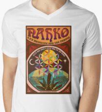 Camiseta para hombre de cuello en v Nahko & Medicine for the People Fan hizo un póster