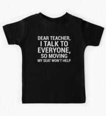 Funny Witty Dear Teacher Student T-shirt Kids Tee