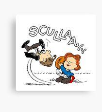 X-Files Peanuts Canvas Print