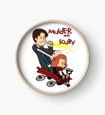 Mulder and Scully Clock