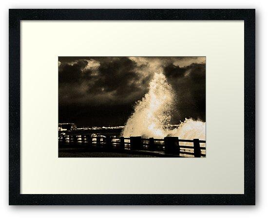 Storm At Arbroath by Elizabeth Austin-Craig
