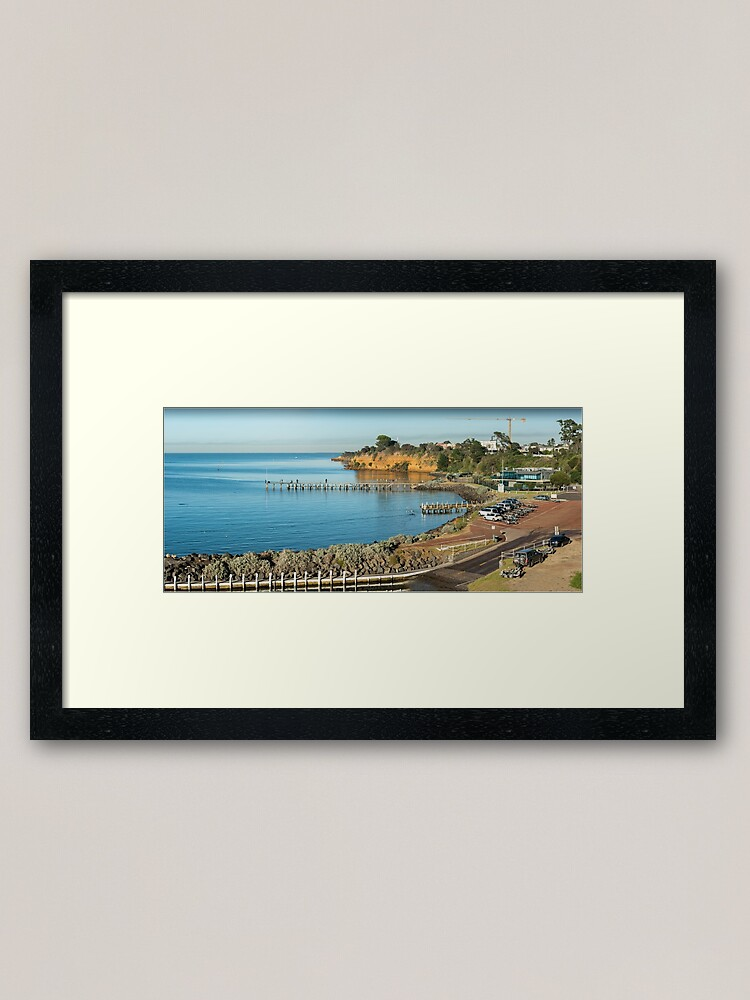 Alternate view of Beaumaris Bay Panorama 2 Framed Art Print