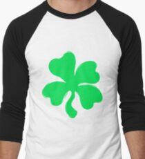 Custom Kingdom Baby Boys Girls Shamrock Four Leaf Clover St Patricks Day T-Shirt Men's Baseball ¾ T-Shirt