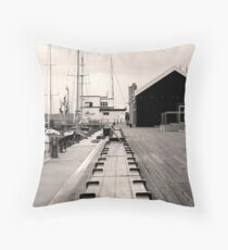 CONSTITUTION DOCKS - HOBART Throw Pillow