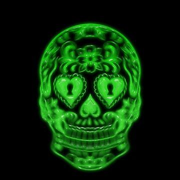Skull Neon by Coooner