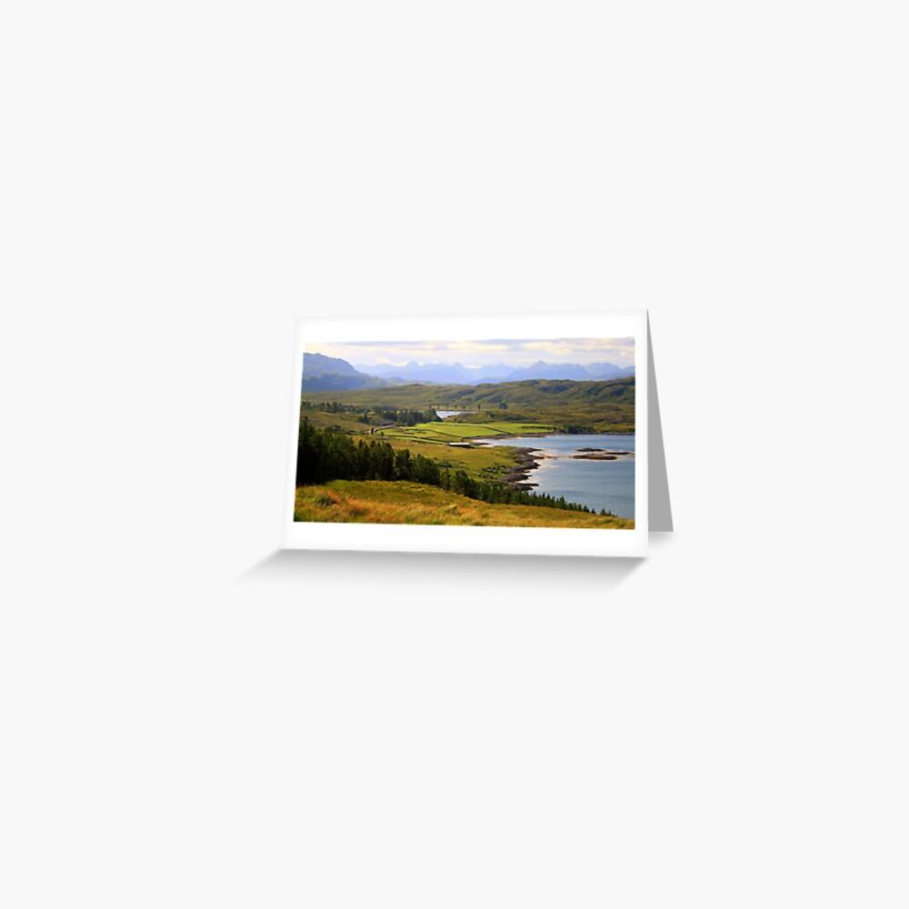 Torridan Mountains Greeting Card
