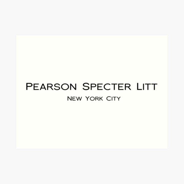 PEARSON SPECTER LITT - SUITS - HARVEY SPECTER  Art Print