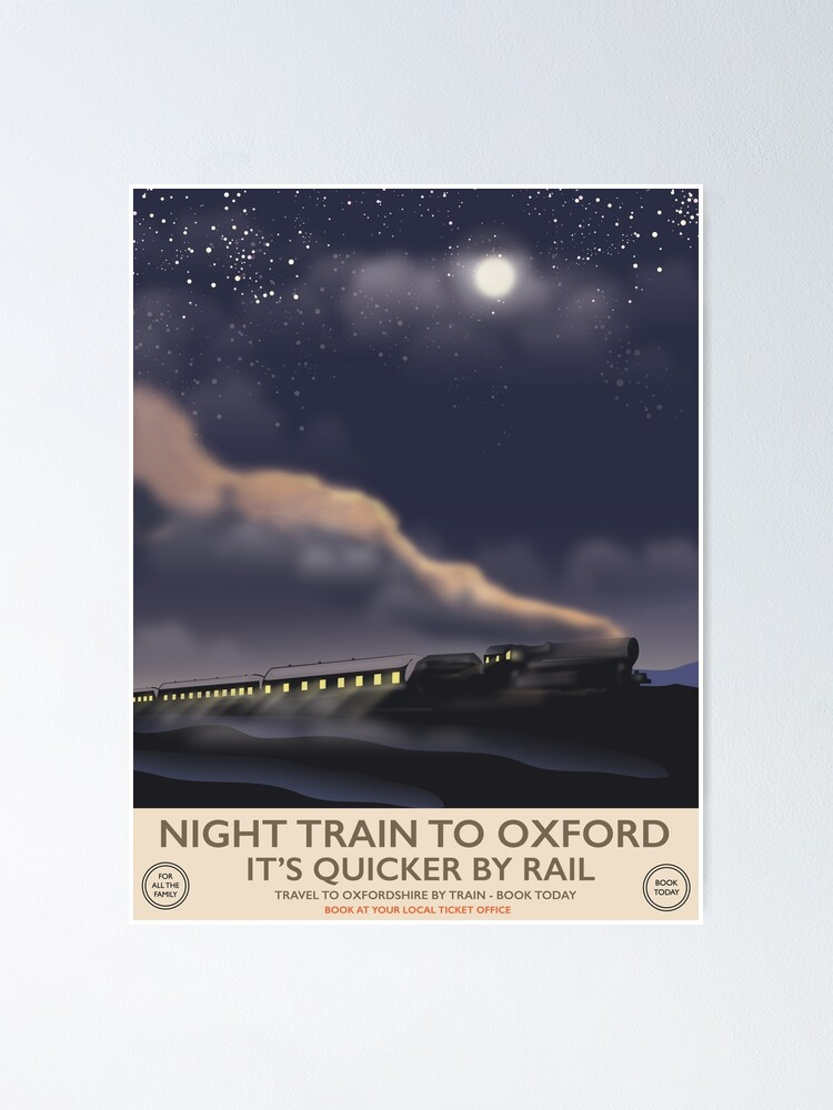 Alternate view of Night train to Oxford  Poster