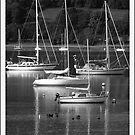Yachts on the  Gareloch by Alexander Mcrobbie-Munro