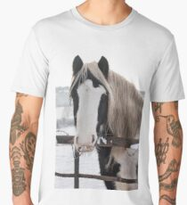 Horse by the fence Men's Premium T-Shirt