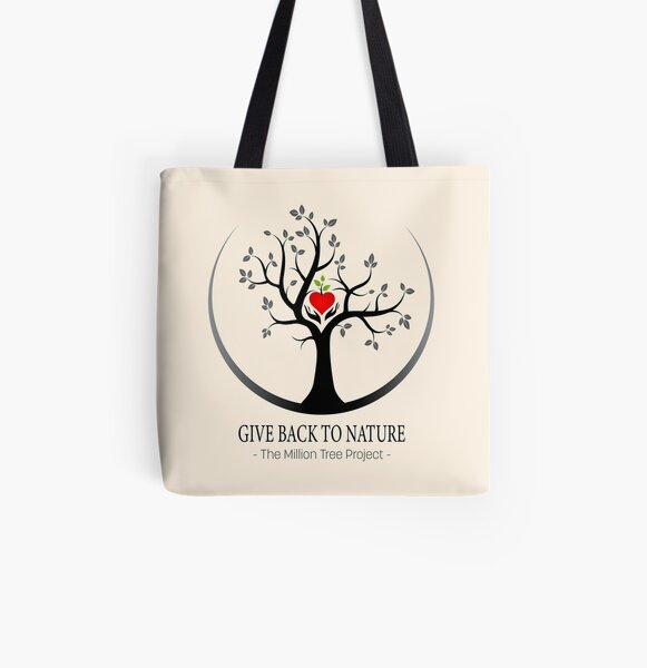 Give Back to Nature Logo - For Light Backgrounds All Over Print Tote Bag