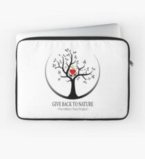 Give Back to Nature Logo - For Light Backgrounds Laptop Sleeve