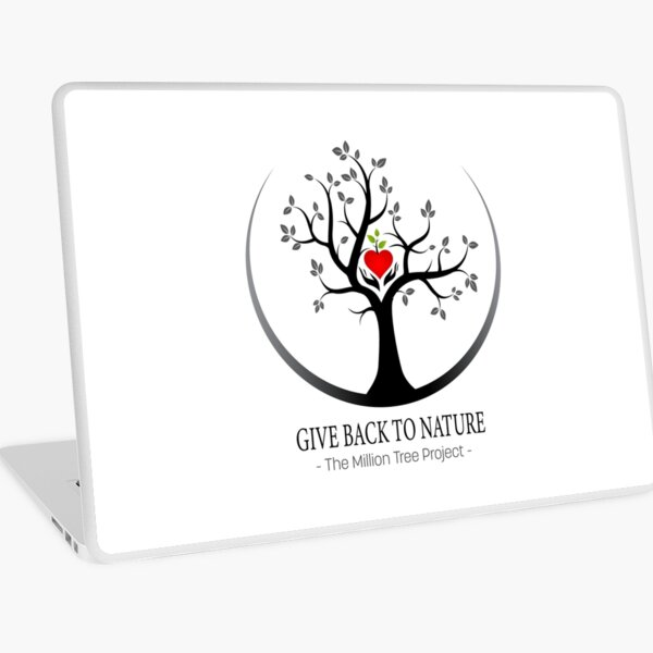 Give Back to Nature Logo - For Light Backgrounds Laptop Skin