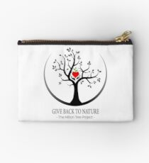 Give Back to Nature Logo - For Light Backgrounds Studio Pouch