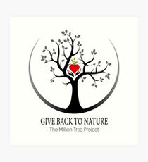 Give Back to Nature Logo - For Light Backgrounds Art Print