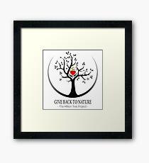 Give Back to Nature Logo - For Light Backgrounds Framed Print