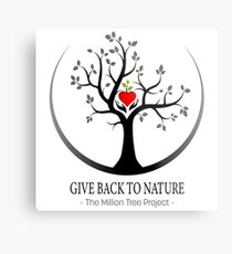Give Back to Nature Logo - For Light Backgrounds Metal Print