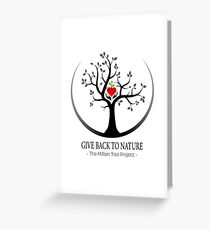 Give Back to Nature Logo - For Light Backgrounds Greeting Card