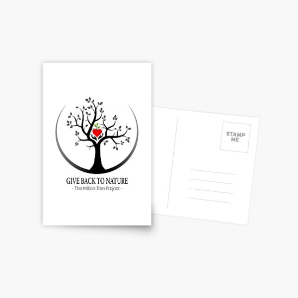 Give Back to Nature Logo - For Light Backgrounds Postcard