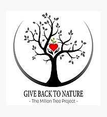 Give Back to Nature Logo - For Light Backgrounds Photographic Print
