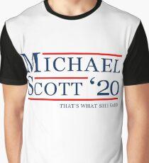 Michael Scott für den Präsidenten Grafik T-Shirt