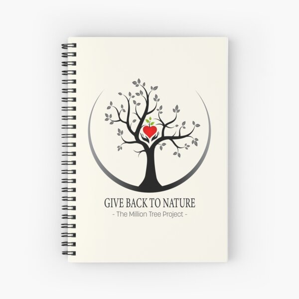 Give Back to Nature Logo - For Light Backgrounds Spiral Notebook
