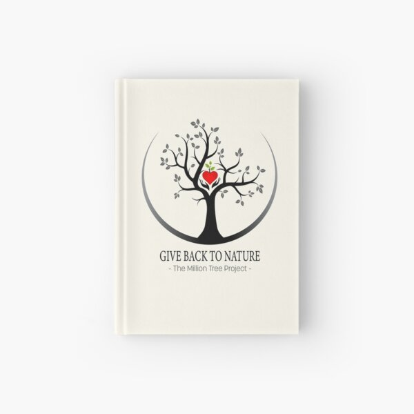 Give Back to Nature Logo - For Light Backgrounds Hardcover Journal