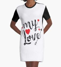 MY LOVE Men's Humor Funny T-Shirt Graphic T-Shirt Dress