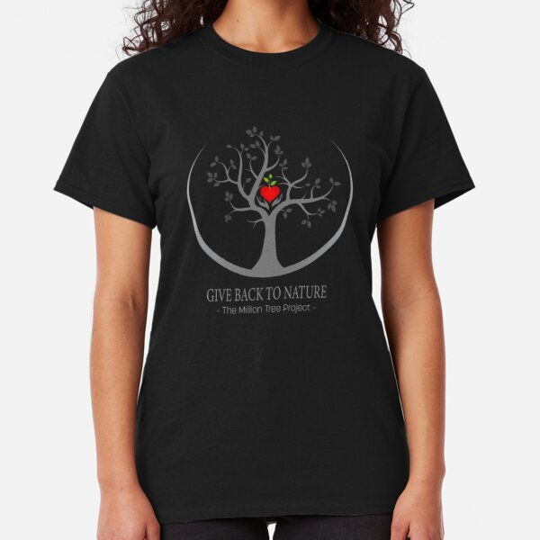 Give Back to Nature Logo - Dark Background Classic T-Shirt