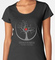 Give Back to Nature Logo - Dark Background Women's Premium T-Shirt