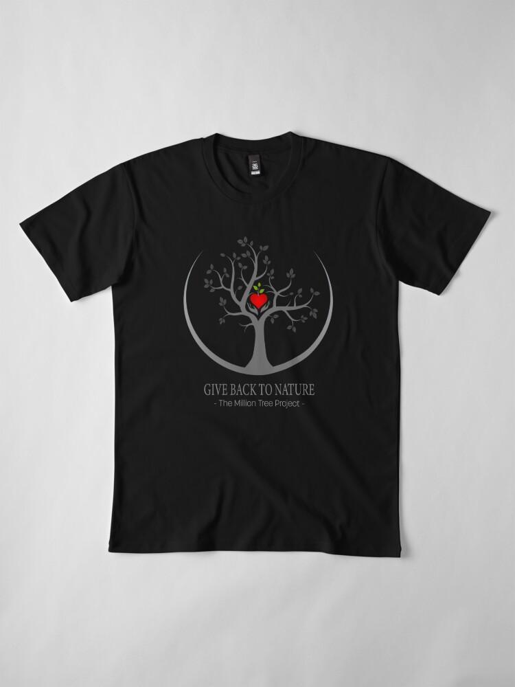 Alternative Ansicht von Geben Sie zurück zu Natur-Logo - dunklen Hintergrund Premium T-Shirt