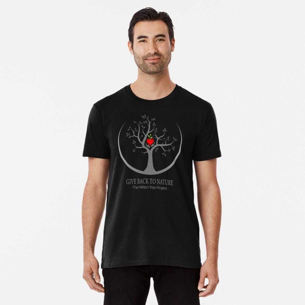 Geben Sie zurück zu Natur-Logo - dunklen Hintergrund Premium T-Shirt