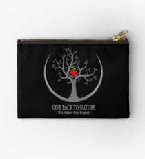 Give Back to Nature Logo - Dark Background Studio Pouch