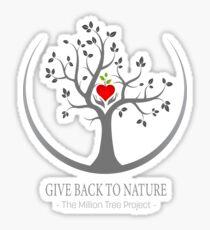 Give Back to Nature Logo - Dark Background Sticker