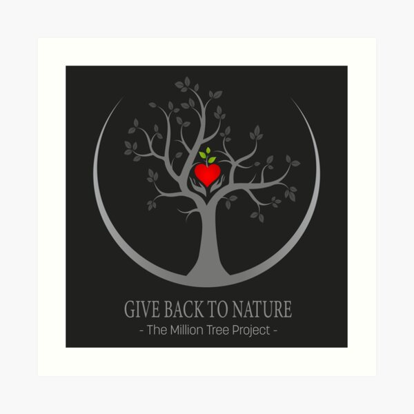 Give Back to Nature Logo - Dark Background Art Print