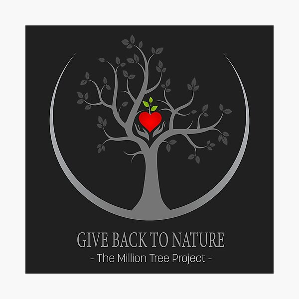 Give Back to Nature Logo - Dark Background Photographic Print