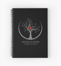 Give Back to Nature Logo - Dark Background Spiral Notebook
