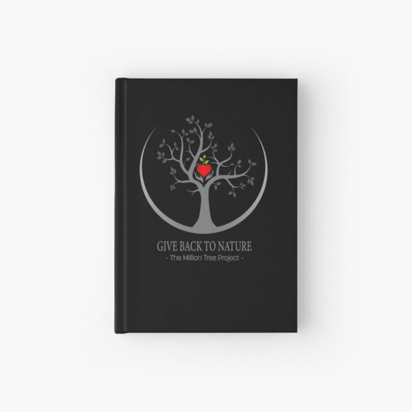 Give Back to Nature Logo - Dark Background Hardcover Journal