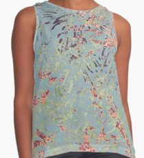 Sage Pine leaves Abstract Pattern Sleeveless Top