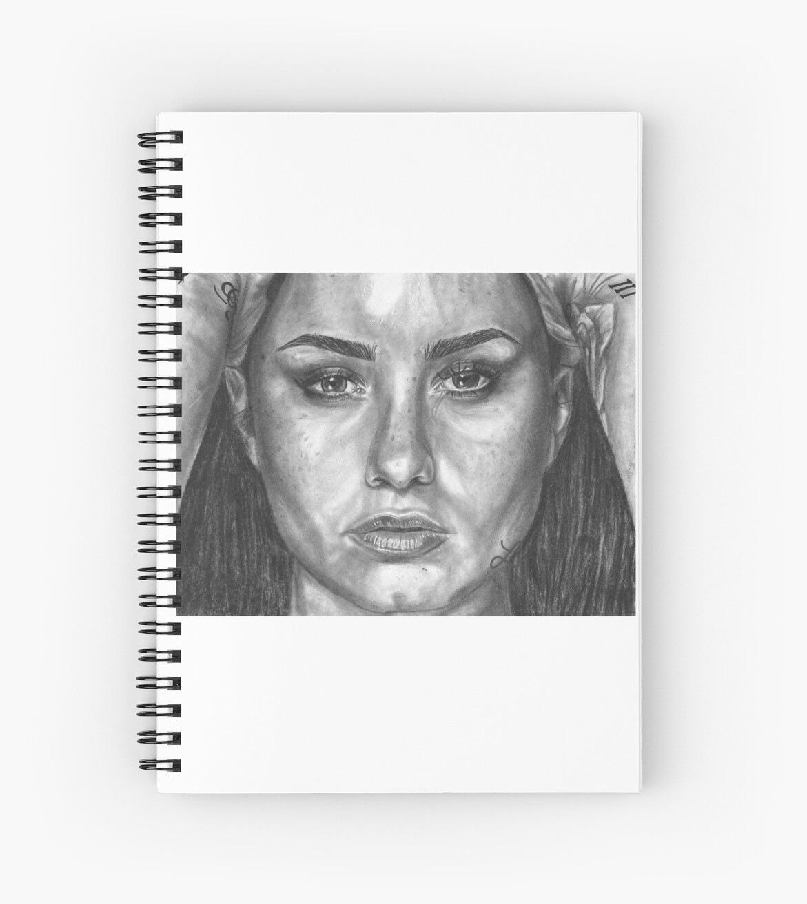Demi Lovato Fan Art Spiral Notebook By Lisedraws