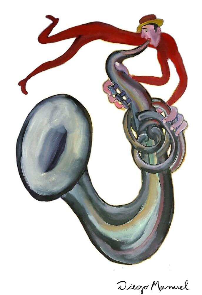 Crazy Sax 2 by Diego Manuel Rodriguez