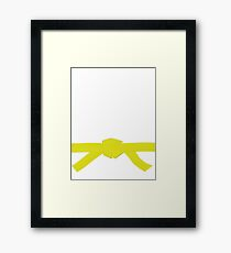 Judo Yellow Belt Framed Print