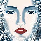 flowers blue eyes by craftipixel